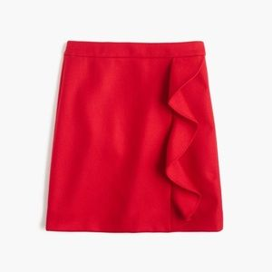 J Crew Wool Ruffle Mini Skirt - Size 2